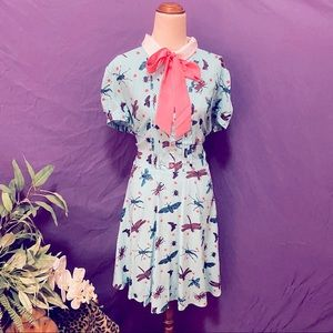 Hell Bunny insect print skater dress size XL BNWT